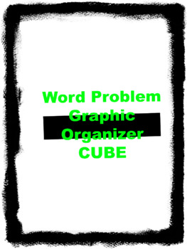 CUBE Graphic organizer