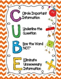 CUBE Math Problem Solving Strategy Poster