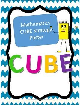 CUBE Mathematics Strategy Poster
