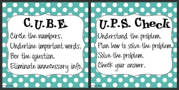 CUBE & UPS Check Math Poste... by Innovate Motivate Educate ...