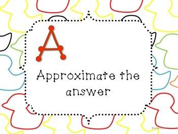 CUBE UPScheck QUACK Math Problem Solving Posters {year2tastic}