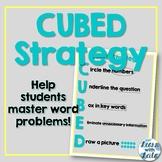 CUBED Word Problem Strategy FREEBIE
