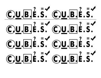 CUBES Desk Top Visual
