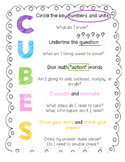 CUBES Math Check Poster