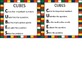 CUBES Math Printable Anchor Chart