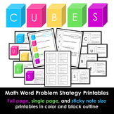 CUBES- Math Printables