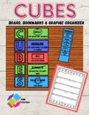 CUBES Math Problem Solving Strategy Bulletin Board And Organizer Set