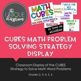 CUBES Math Problem Solving Strategy Display
