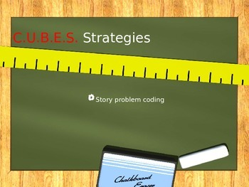 CUBES Math Story Problem Strategies Powerpoint