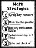 CUBES:  Math Strategies Poster