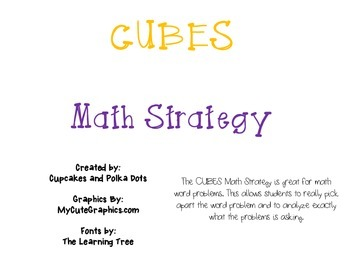 CUBES Math Strategy