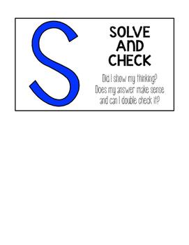 CUBES Math Strategy Bulletin Board Mini-Posters