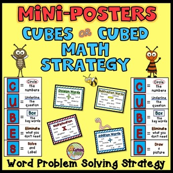 CUBES Math Posters Featuring a Word Problem Solving Strategy