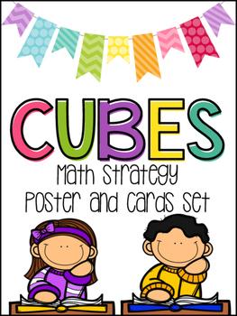 CUBES Math Strategy Poster & Cards Set