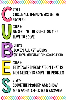 Adorable image within cubes math strategy printable