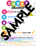 CUBES Math Strategy Poster With Example