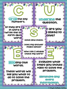 CUBES {Math Strategy Posters}