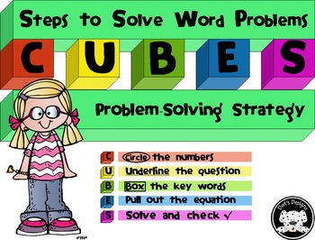 CUBES Math Strategy for Word ~ Story Problems