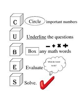 CUBES Math Word Problem Stategy