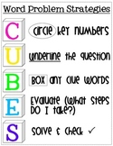 CUBES Math Word Problem Strategy