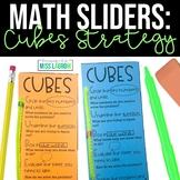 Editable CUBES Math Word Problem Strategy Aid Manipulative