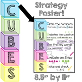 CUBES Math Word Problem Strategy Poster  BRIGHTS