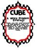 CUBES Math Word Problem Strategy poster (CUSTOM ORDER)