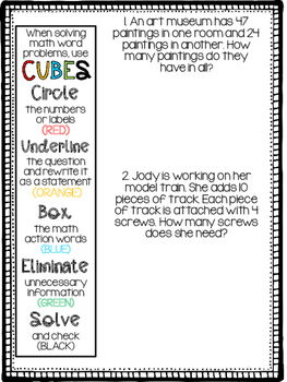 CUBES- Math Word Problems Booklet