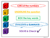 CUBES Mathematics Problem Solving Strategy for Poster or I