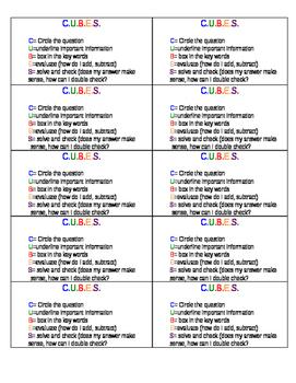 CUBES Mini Anchor Chart