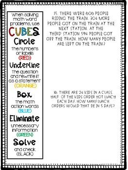CUBES Multiple-Step Problems
