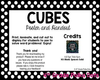 CUBES Poster and Handout