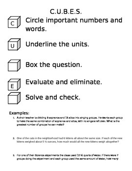 C.U.B.E.S. Problem Solving