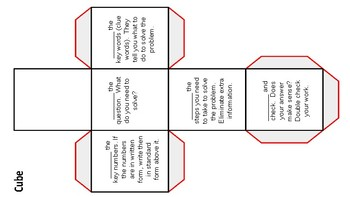 CUBES Problem Solving Foldable