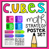 CUBES Problem Solving Math Strategy Poster Set