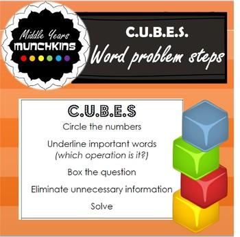 CUBES Problem Solving Steps