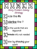 CUBES Problem Solving Strategy Anchor Chart