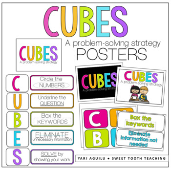 CUBES Problem Solving Strategy Poster