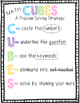 CUBES Problem Solving Strategy Posters and Bookmarks