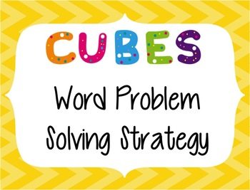CUBES Problem Solving Strategy--Yellow Chevron