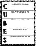 CUBES Problem Solving Walkthrough Worksheet