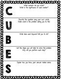 CUBES Problem Solving Walkthrough Worksheet