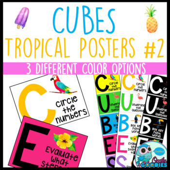 CUBES Reference Posters - Tropical #2 Themed