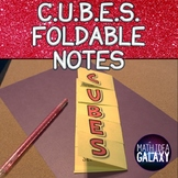 CUBES Strategy Foldable Notes