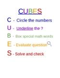 CUBES Strategy - Math Poster