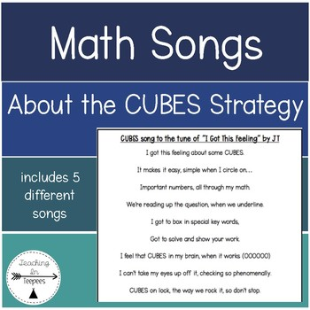 Math Songs for Word Problems: CUBES Strategy