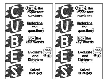 CUBES Strategy poster/bookmarks