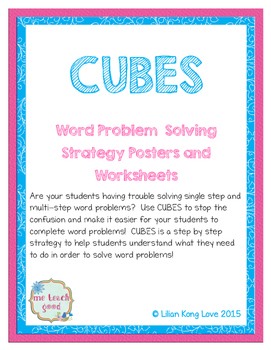 CUBES Word Problem Strategy