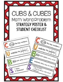 CUBES Word Problem Strategy Poster and Checklist
