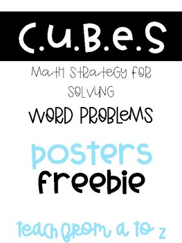 CUBES Word Problem Strategy Posters